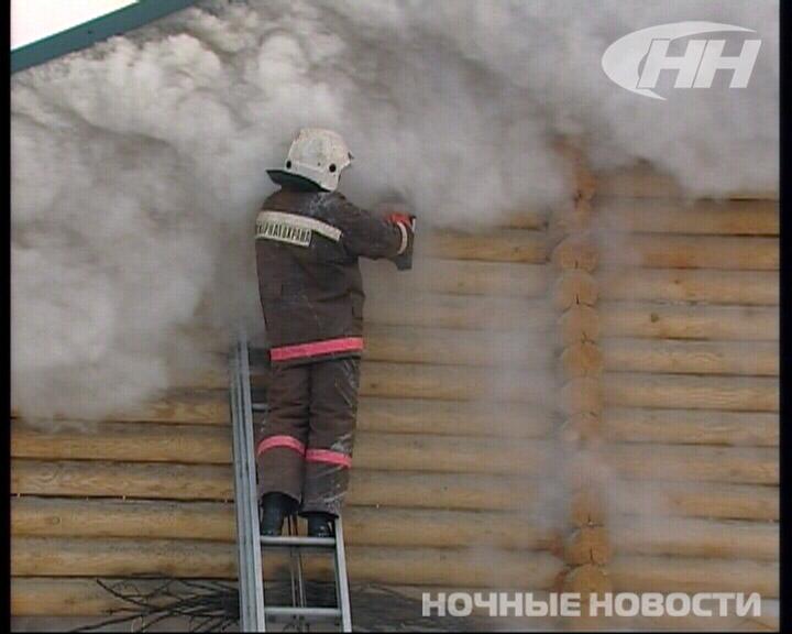 Пожар в бане на Хуторской: столб дыма поднялся на десятки метров