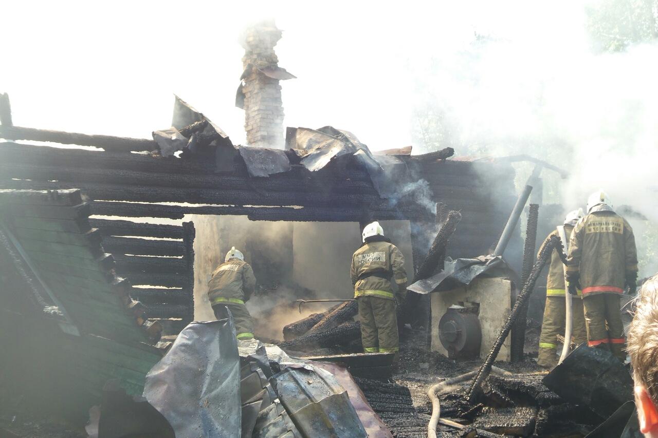 В Заречном районе сгорел дом, в котором жили нелегальные мигранты