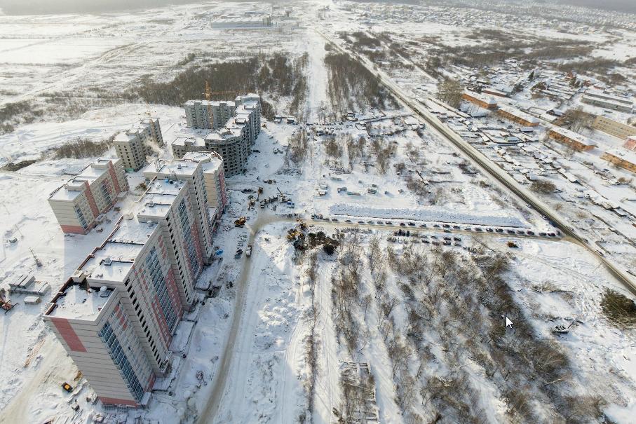 На новой улице Евгения Савкова появились первые дома