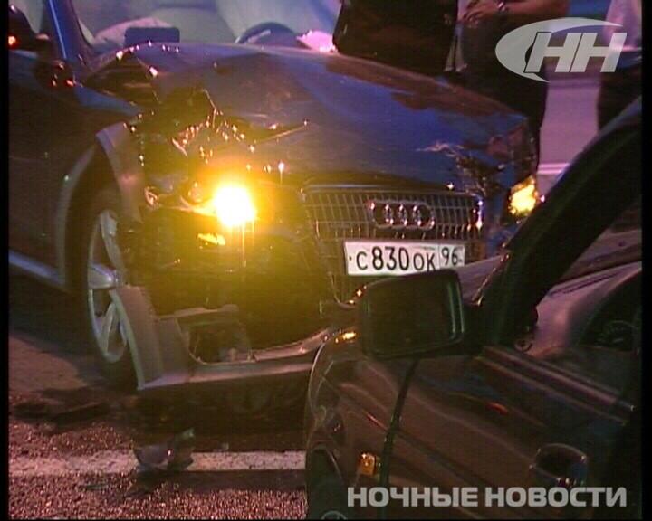 Ночью на Щорса столкнулись Audi и «пьяный» ВАЗ