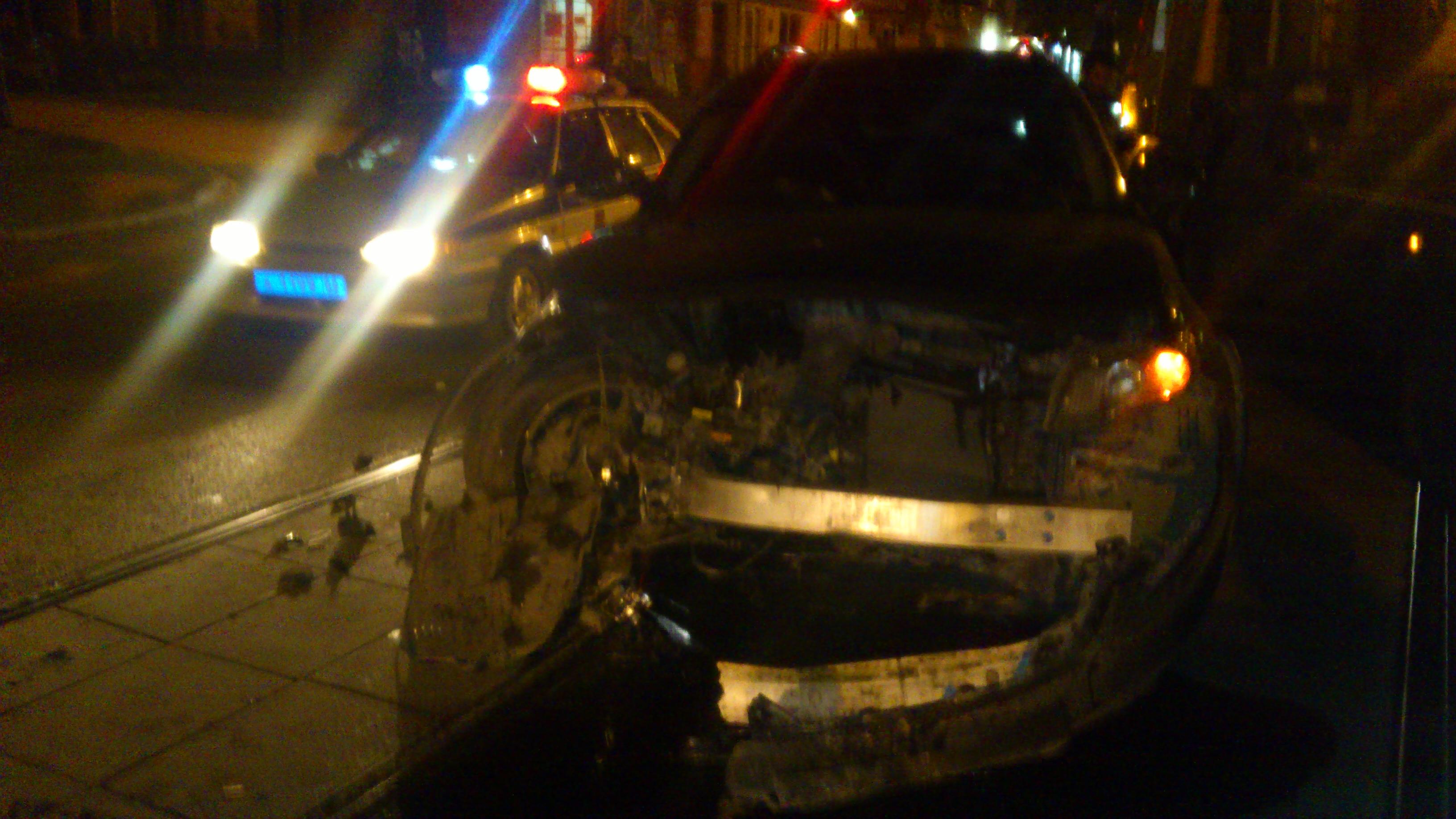На Луначарского — Карла Маркса BMW развернулся и врезался в Infiniti