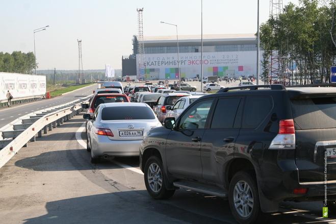 ГИБДД просит не ездить на «Иннопром» на машинах