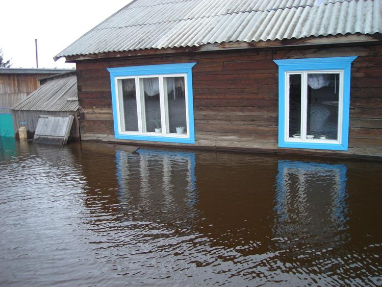 Фото затопленных домов