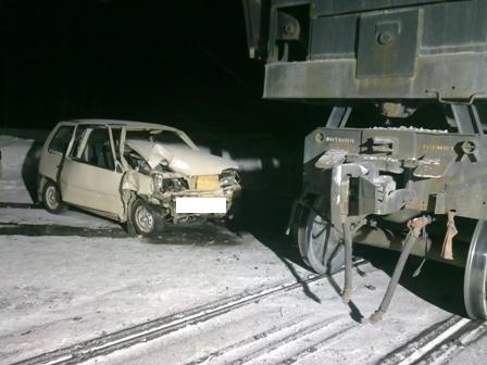 Под Качканаром «Ока» протаранила железнодорожный состав