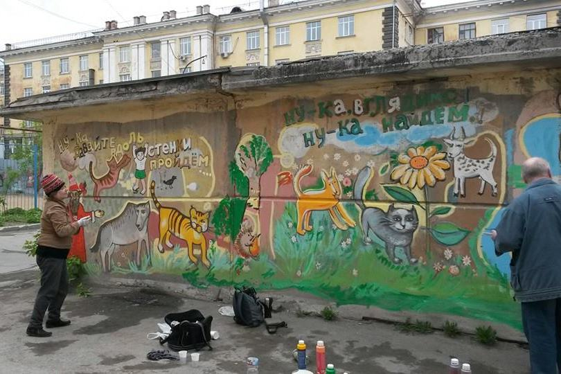 Горожане восстановили росписи на «Тропе старика Букашкина»