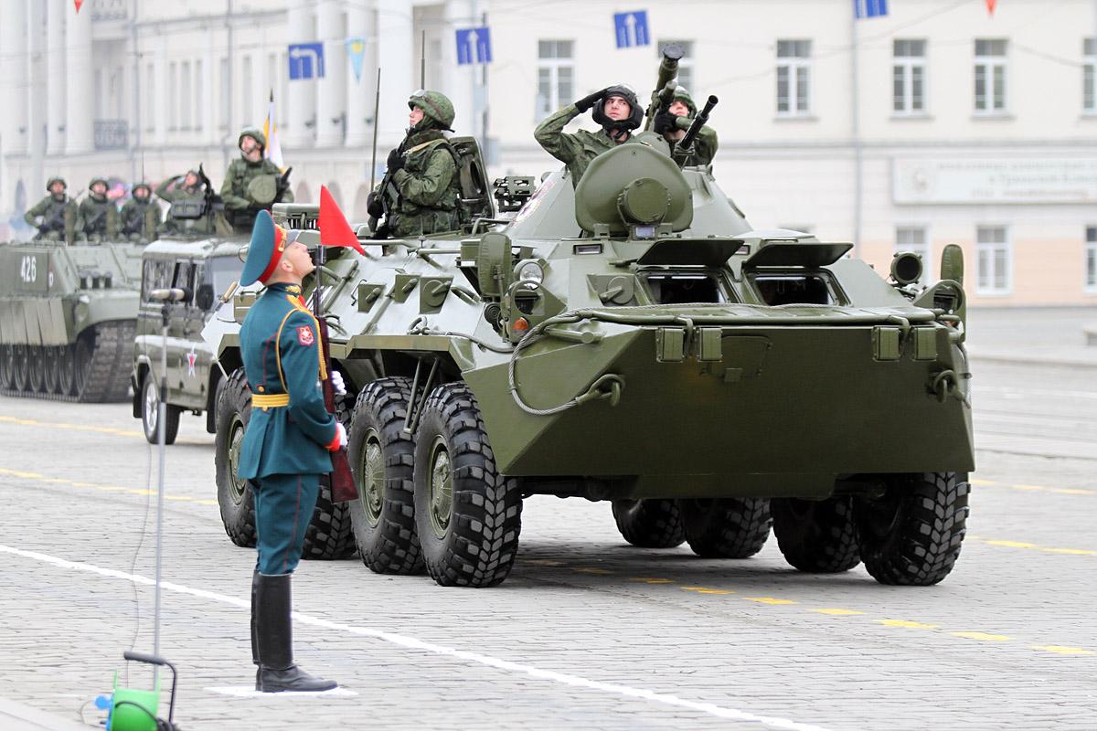 Танки в городе: с апреля в Екатеринбурге перекроют улицы для репетиции парада Победы