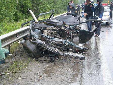 ГИБДД: в аварии на Серовском тракте виновата разбитая дорога