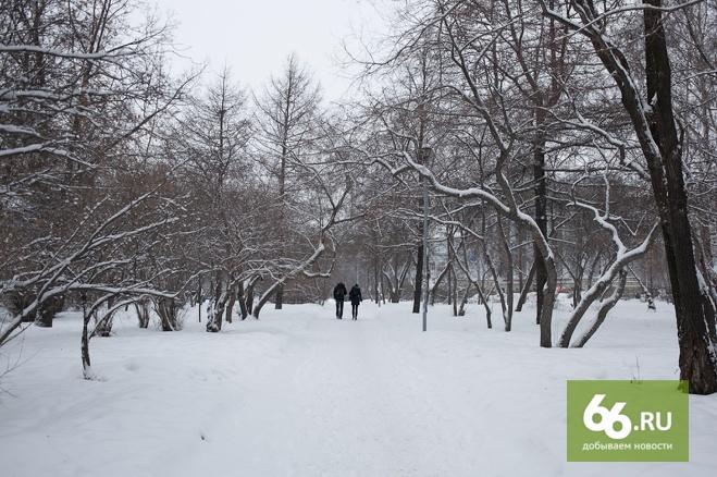 Сидим дома: в Екатеринбург вернулась новогодняя стужа