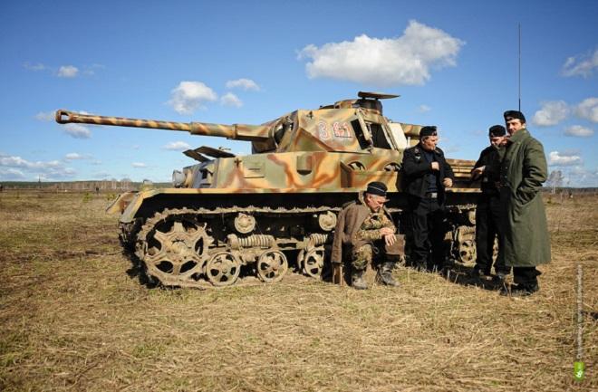 На Шарташе реконструируют бой 1944 года за освобождение Могилева