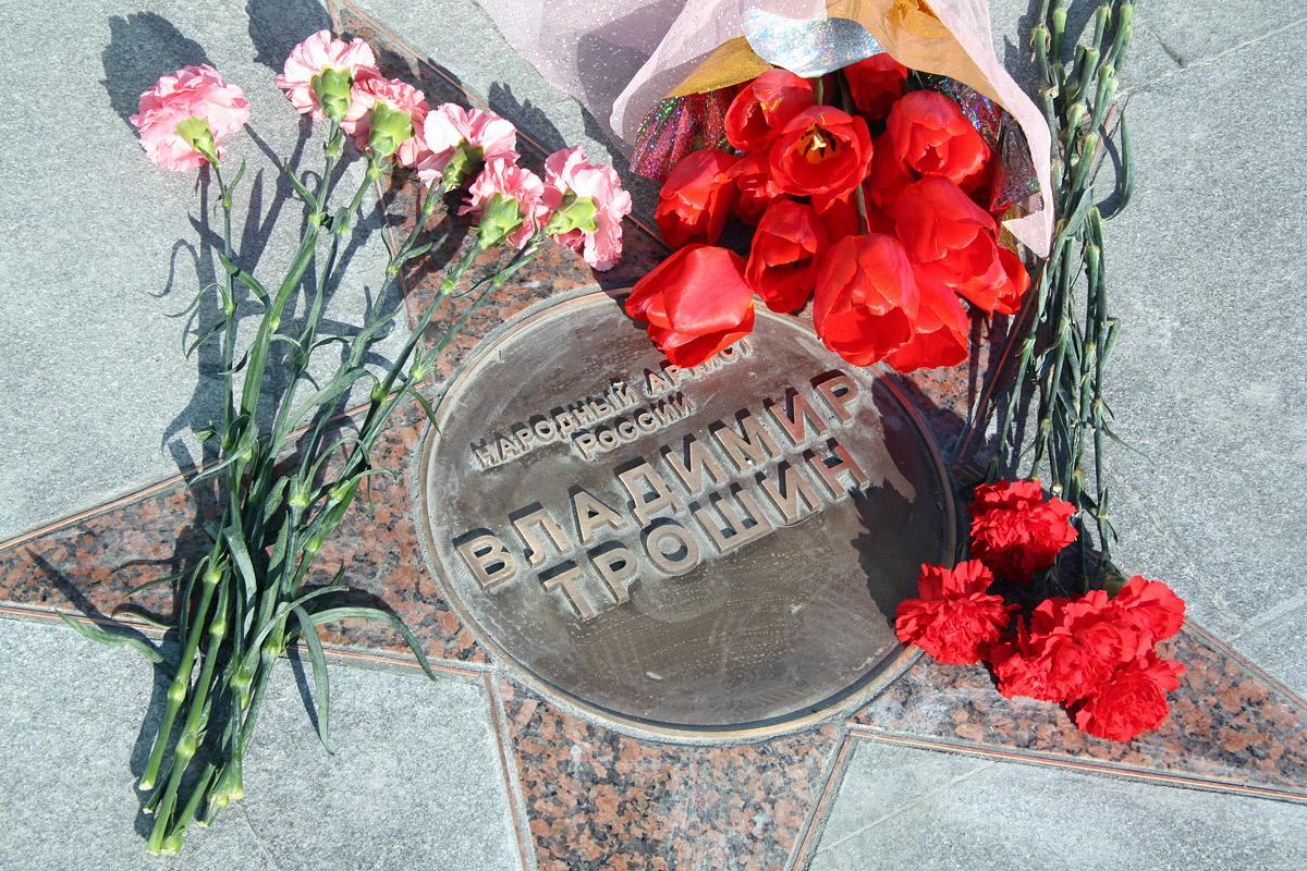 На Уральской площади звезд появилась звезда Владимира Трошина