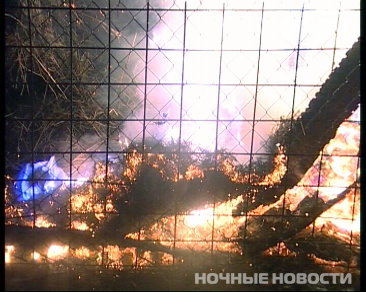 В зоопарке в ЦПКиО сгорел склад с сеном для животных