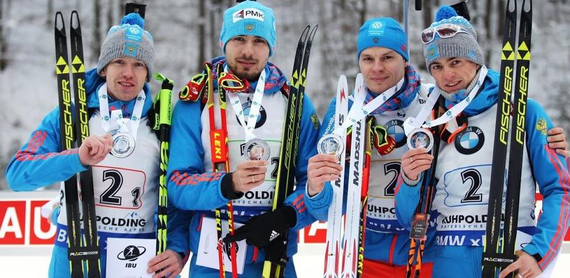Упустили победу на финише: мужская сборная России по биатлону завоевала серебро в эстафете на Кубке мира