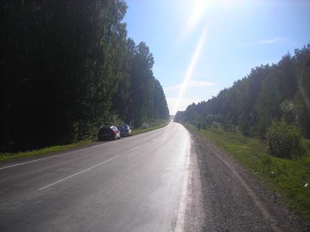 На Среднем Урале четыре автомобиля вылетели в кюветы
