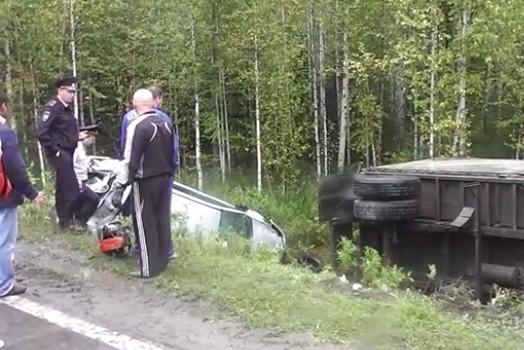На Серовской трассе грузовик сбил людей, которые вытаскивали из кювета машину