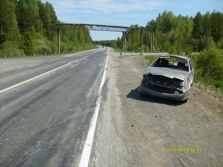 В аварии на свердловской трассе пострадал юный пассажир «четырнадцатой»