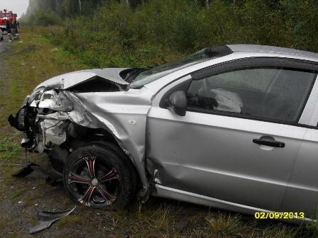 В столкновении пяти машин под Краснотурьинском пострадали пять человек