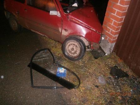 В Шале нетрезвый водитель ВАЗа влетел в забор