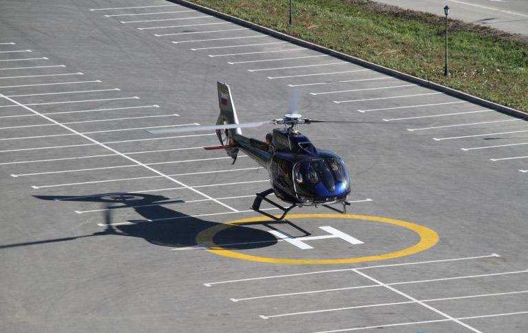 Вертолетная площадка в Доме правительства покрылась трещинами