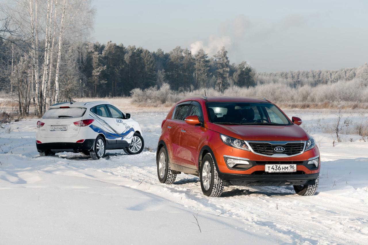 KIA Sportage vs Hyundai ix35: бензин или дизель?