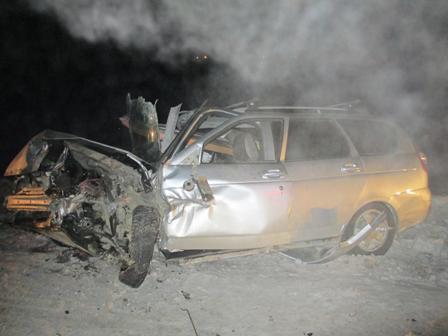 На Тюменском тракте столкнулись два ВАЗа, водитель одного из них погиб