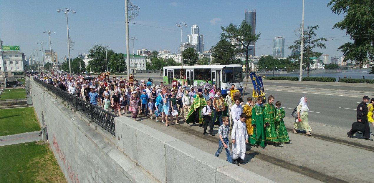 Школьники Екатеринбурга отметят конец учебного года крестным ходом. Маршрут