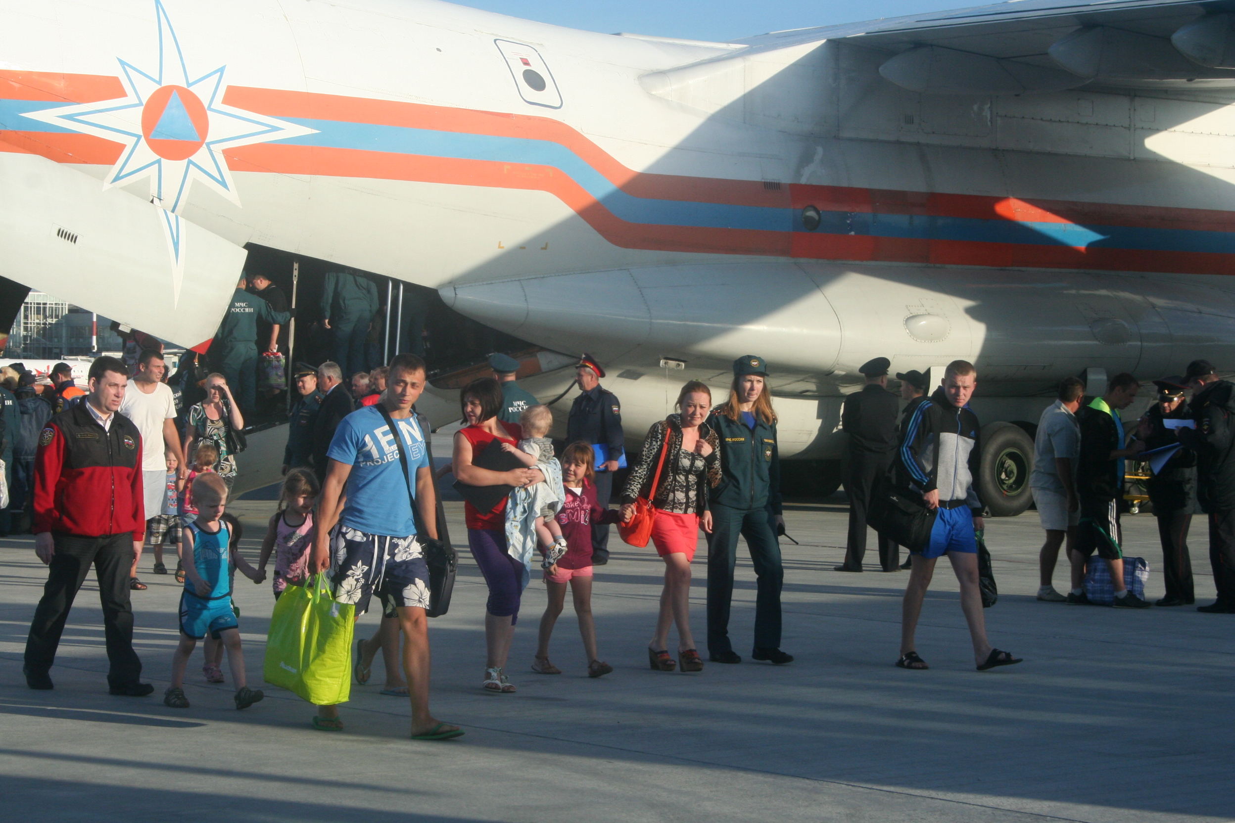 В Екатеринбург прибыли 112 беженцев с Украины