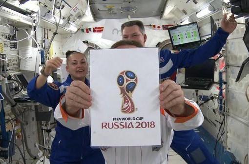 Привет с МКС: российские космонавты презентовали эмблему ЧМ-2018 по футболу