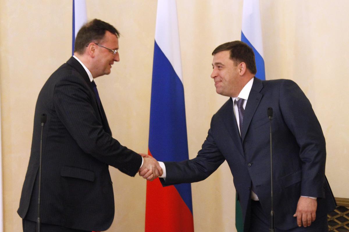 Премьер Чехии пролоббирует в Екатеринбурге интересы национального бизнеса
