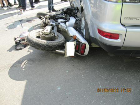 В выходные на свердловских дорогах произошло 5 ДТП с участием мотоциклов