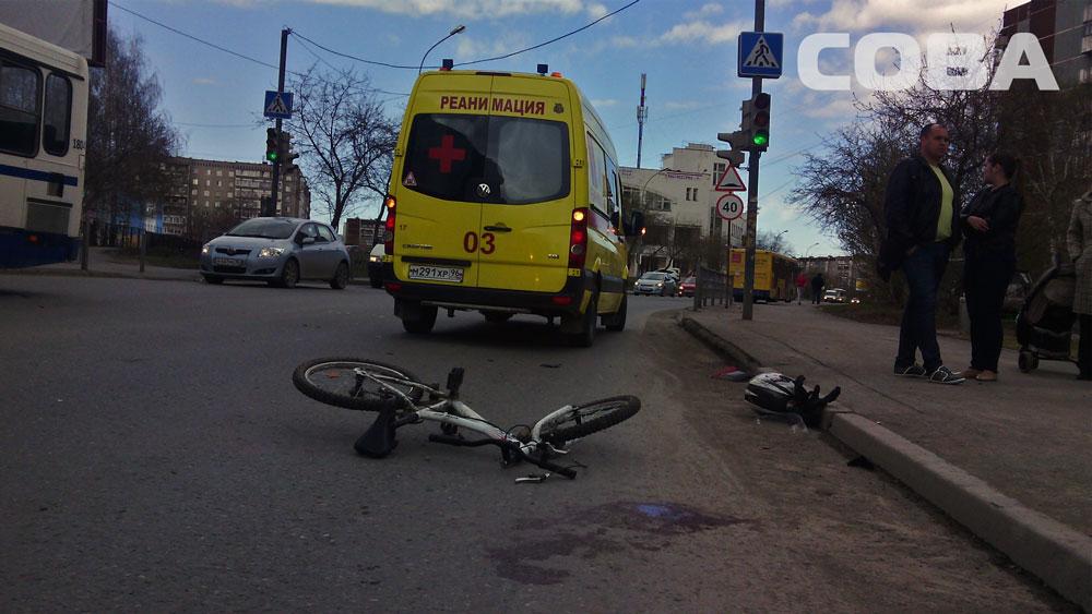 На Опалихинской байкер сбил ребенка-велосипедиста