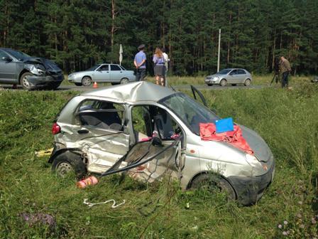 Под Первоуральском в аварии Daewoo Matiz и Skoda погибла девушка