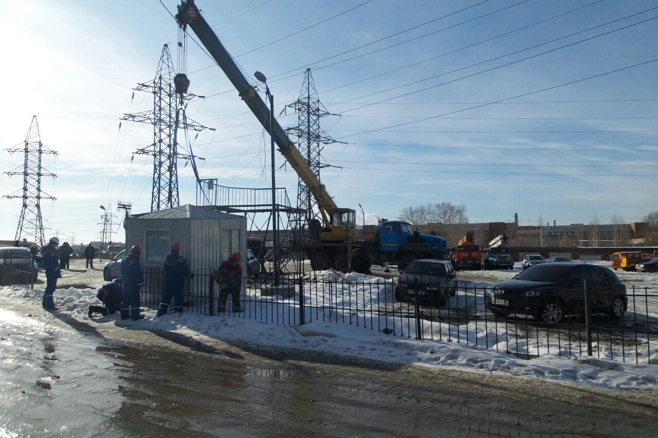Электрики на Электриков снесли незаконную стоянку