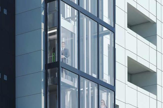 В Екатеринбурге построят жилой дом с панорамными лифтами