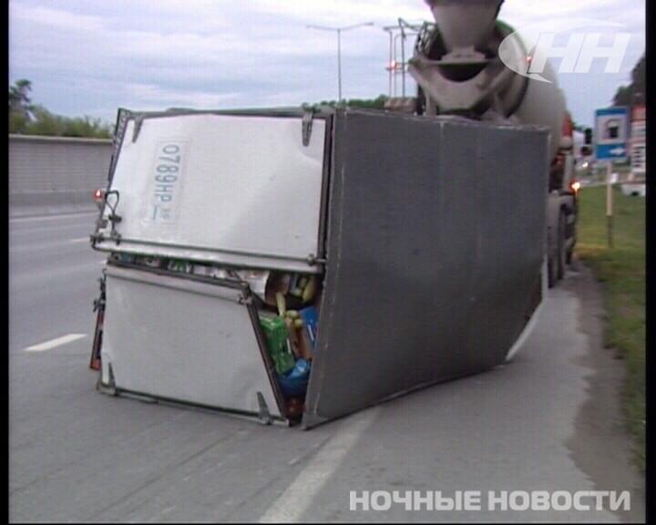 На Кольцовском тракте перевернулась «Газель» с кабачками