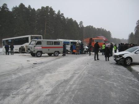 Опубликованы списки пострадавших в ДТП на Полевском тракте