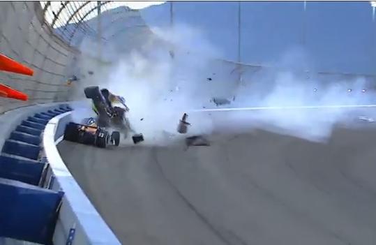 Российский гонщик Михаил Алешин госпитализирован после аварии в США