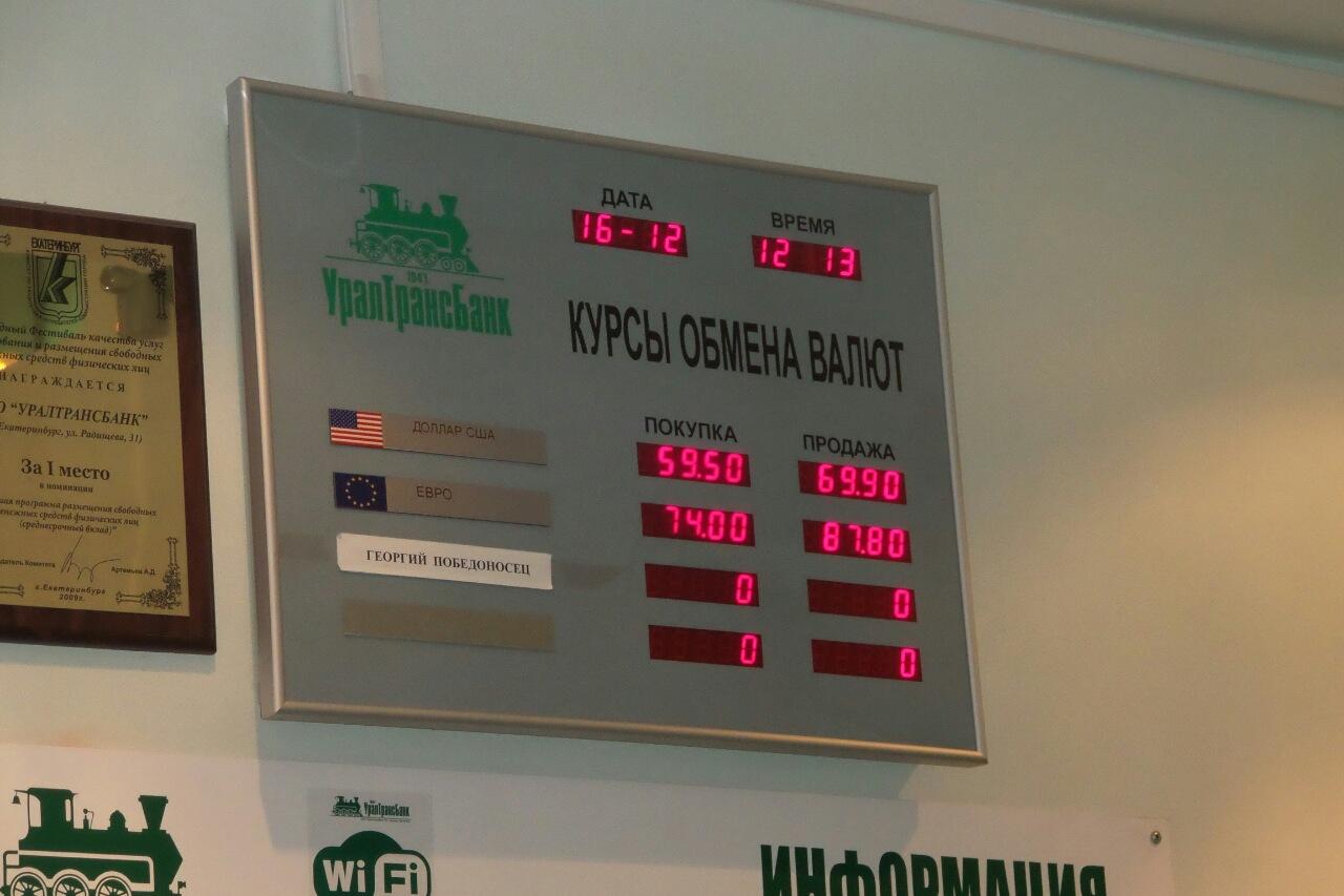 В банках Екатеринбурга евро стоит под 100 рублей, доллар продают за 80