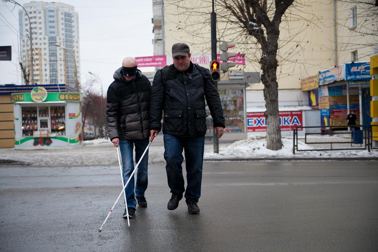 Екатеринбург для слепых: репортаж с завязанными глазами
