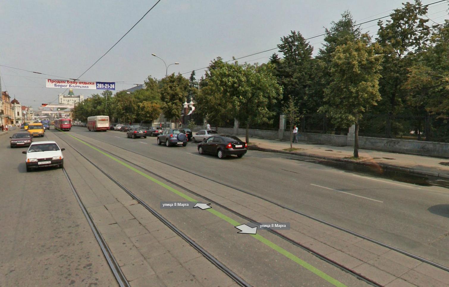 Евгений Липович подвинет трамвайные пути на 8 Марта к дендропарку