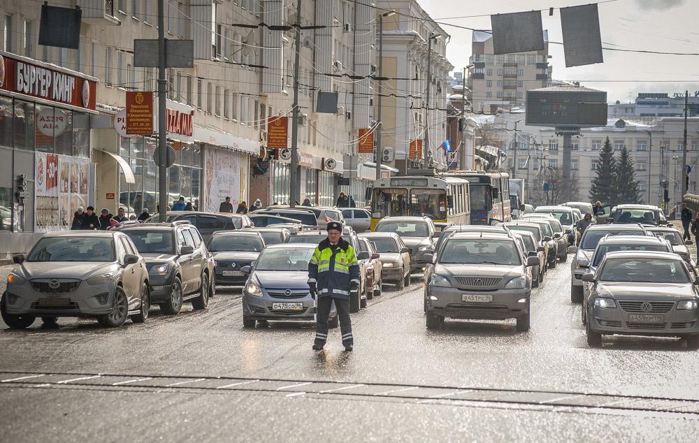 Схема перекрытия улиц в