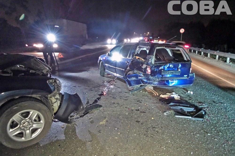Девушка за рулем Volkswagen устроила на ЕКАД аварию из четырех машин