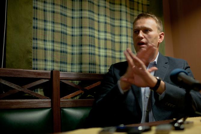 Навального пытались арестовать из-за записи в блоге