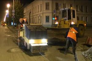 Дорожники покрыли проспект Ленина новым полотном