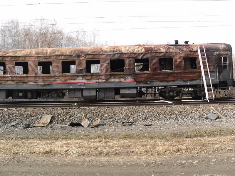 Под Камышловом загорелся вагон пассажирского поезда