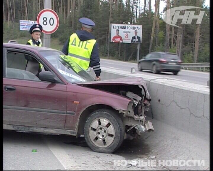 На Россельбане водитель Honda без прав догнал КамАЗ