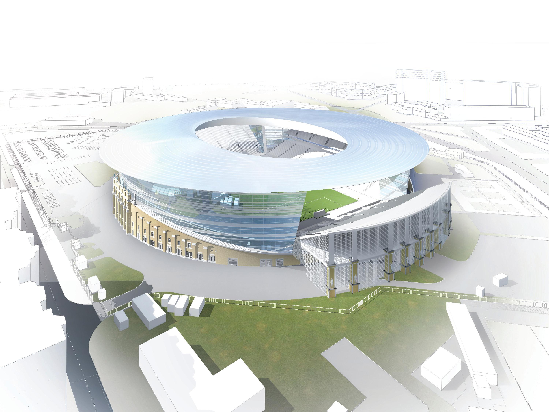 Вот он какой: Центральный стадион накроют странной пластиковой крышей