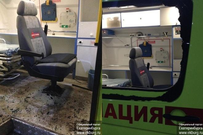 Молодчиков, избивших врачей на Вторчермете, заставят заплатить за разбитую машину скорой