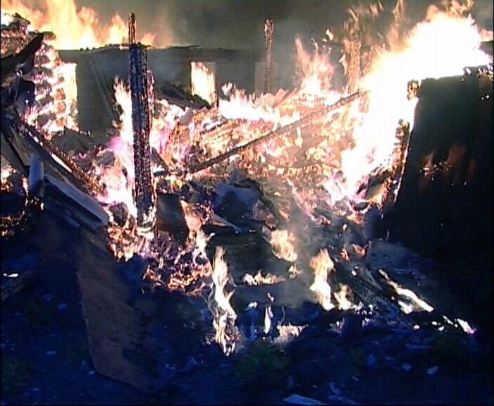 На Уктусе вечером горели деревянные бараки