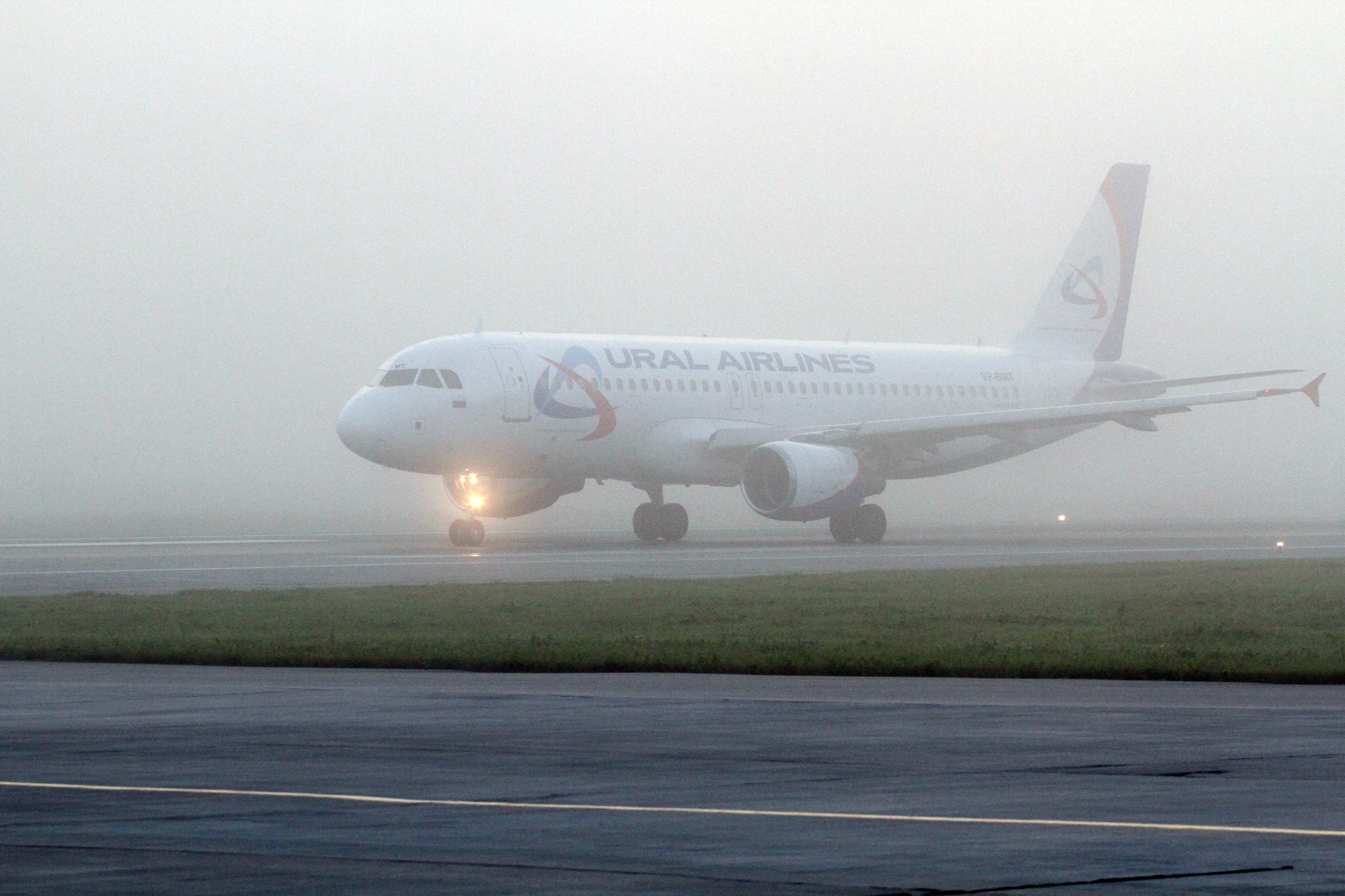 Несколько рейсов задержаны в Кольцово из-за тумана