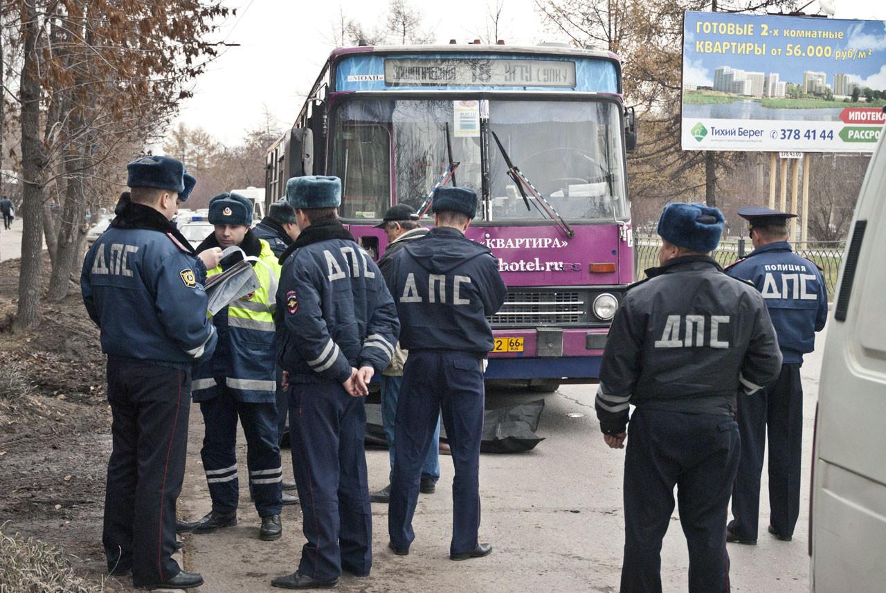 На Посадской автобус насмерть сбил человека